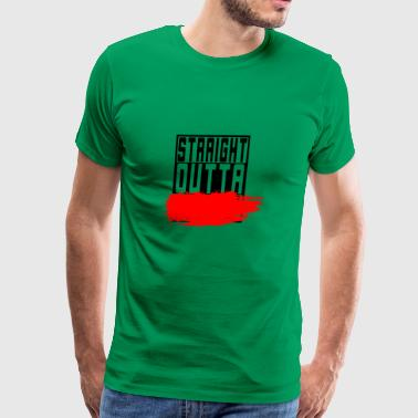 Straight outta *censored* Age secretly - Men's Premium T-Shirt