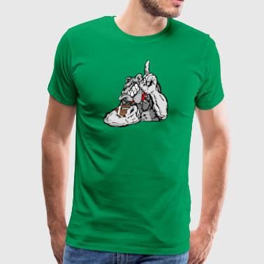 football bulldog - Men's Premium T-Shirt