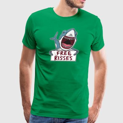 Shark Quote  Shark Giving Free Kisses  Shark - Men's Premium T-Shirt