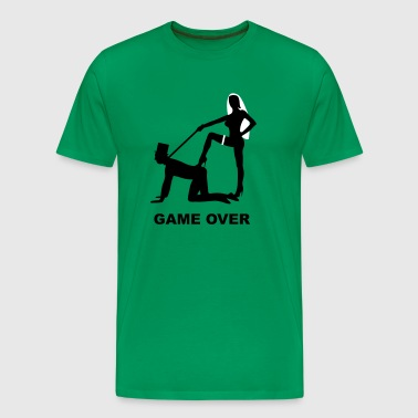 game over marriage matrimory wedlock fog haze double heiht heyday nuptials wedding zenith dominatrix lash whip slave bondman sex - Men's Premium T-Shirt