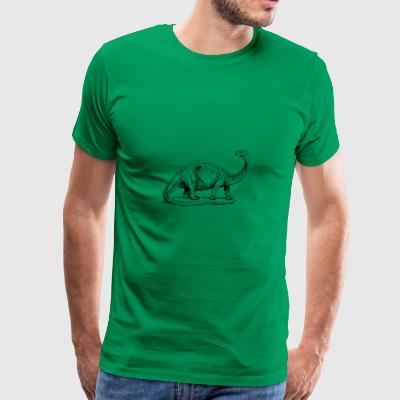 Cute Funny Cute Dino Comic Drawing T-Shirt - Men's Premium T-Shirt