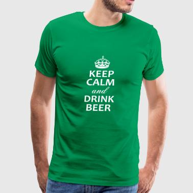 Keep calm and drink beer shirt - Men's Premium T-Shirt
