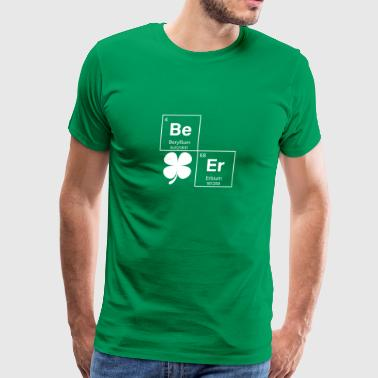 Beer Periodic Table St Patricks Day Shamrock Irish - Men's Premium T-Shirt