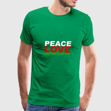 Peace Love Leprechauns St Patricks Day Lucky - Men's Premium T-Shirt