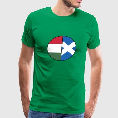 Scottish Hungarian Flag Dual Citizenship DNA Pride - Men's Premium T-Shirt
