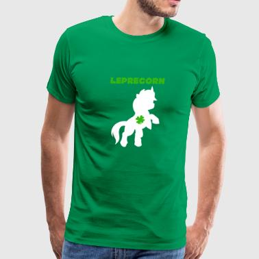 Lepricorn Funny Unicorn Shamrock St Patricks Day - Men's Premium T-Shirt