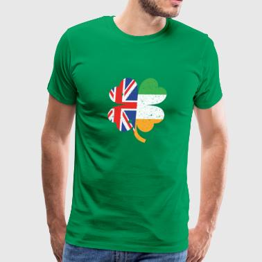 Half British Half Irish St. Patricks Day - Men's Premium T-Shirt