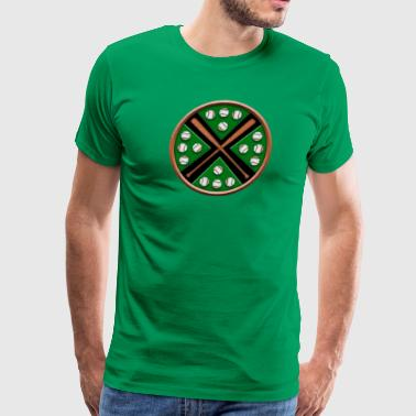 Crossing baseball bats design - Men's Premium T-Shirt