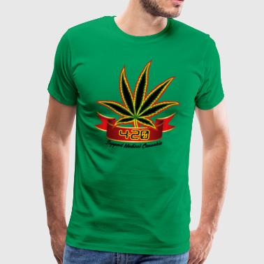 support_medical_cannabis_420 - Men's Premium T-Shirt
