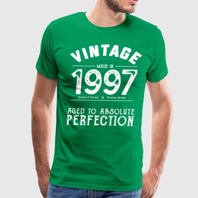 1997 Aged To Perfection: 20th Birthday Present - Men's Premium T-Shirt