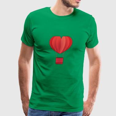 hot air balloon love type - Men's Premium T-Shirt
