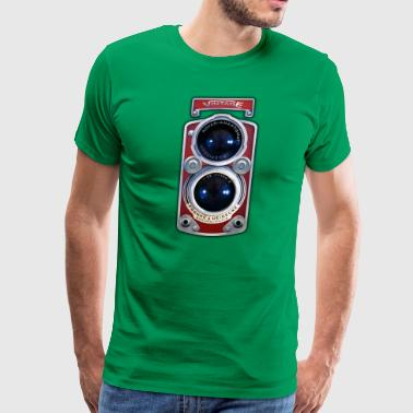 Vintage RED Double lens camera T-shirt - Men's Premium T-Shirt