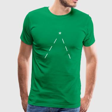 ASCII minimal christmas tree - Men's Premium T-Shirt