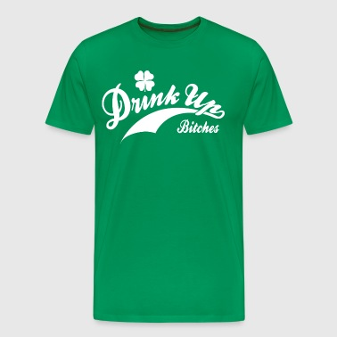 St. Patrick's Day Retro Shirt - Drink Up Bitches S - Men's Premium T-Shirt