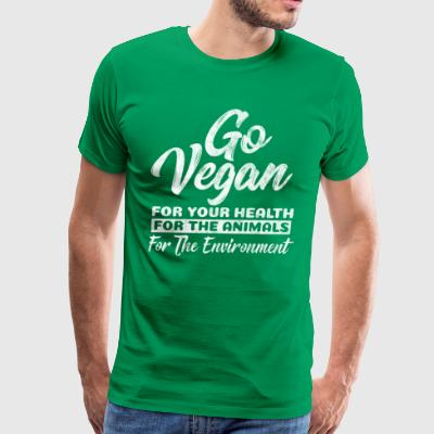 Go Vegan for health, animals and environment Gift - Men's Premium T-Shirt