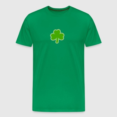 Saint Patrick's Shamrock Drawing - Men's Premium T-Shirt