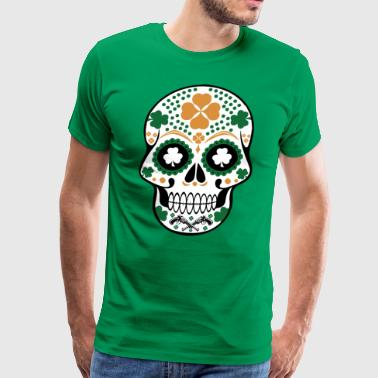 Irish St Patrick's Sugar Skull - Men's Premium T-Shirt