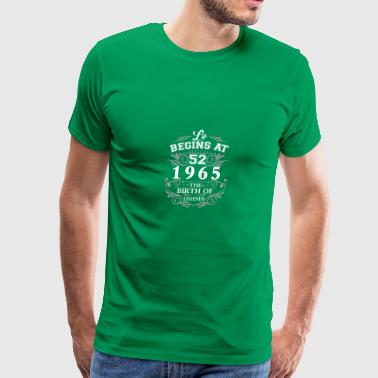 Life begins at 42 1965 The birth of legends - Men's Premium T-Shirt