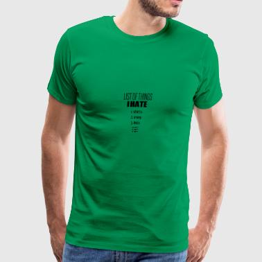 The list - Men's Premium T-Shirt