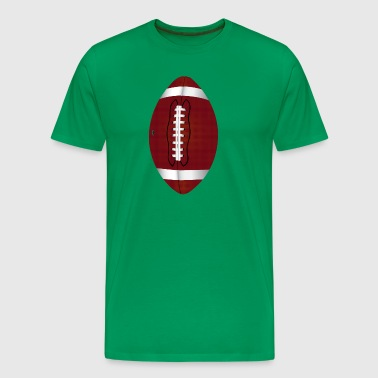 Football pigskin illustration design - Men's Premium T-Shirt