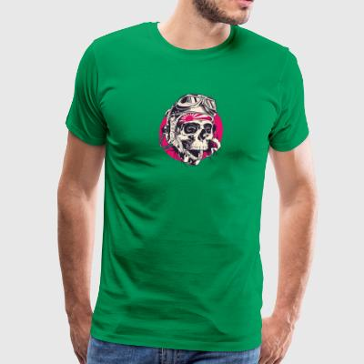 Japanese pilot head skull - Men's Premium T-Shirt
