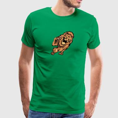 huge_tiger_running - Men's Premium T-Shirt