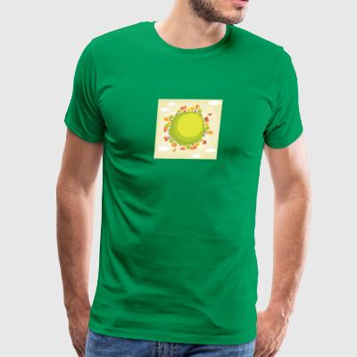 nature houses trees planet - Men's Premium T-Shirt