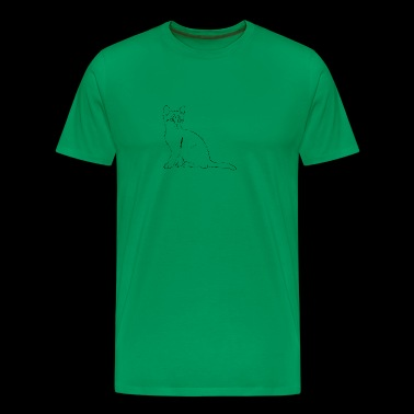 Cat Drawing - Men's Premium T-Shirt