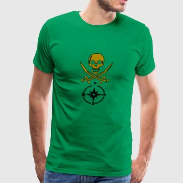 skull gold - Men's Premium T-Shirt