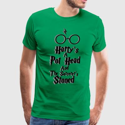 Harry's A Pot Head And The Sorcerer's Stoned - Men's Premium T-Shirt