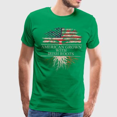 American grown with irish roots - Men's Premium T-Shirt