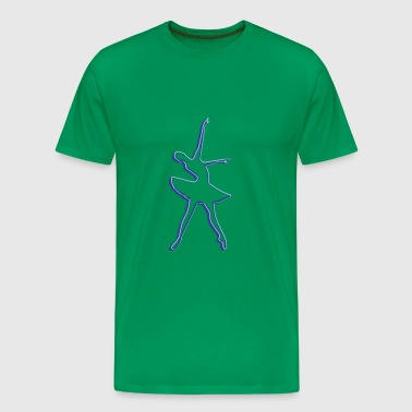 Ballerina design dancing - Men's Premium T-Shirt