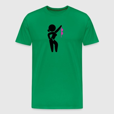 A Stripper Taking Off Her Bra! - Men's Premium T-Shirt