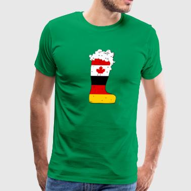 German - Canadian Beer Boot - Men's Premium T-Shirt