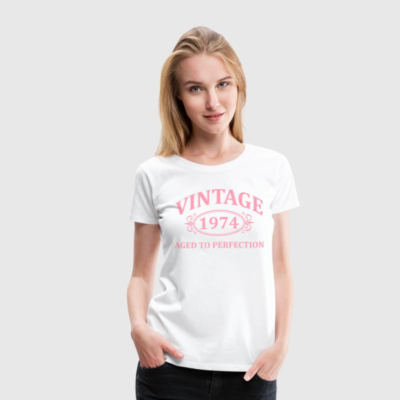 Vintage 1974 Aged to Perfection - Women's Premium T-Shirt