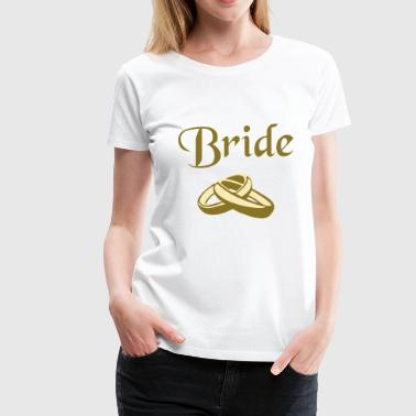 Bride, rings, marriage - Women's Premium T-Shirt