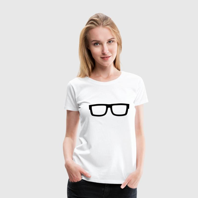 eyeglasses, Nerd, Geek, smart, intelligent, Freak - Women's Premium T-Shirt