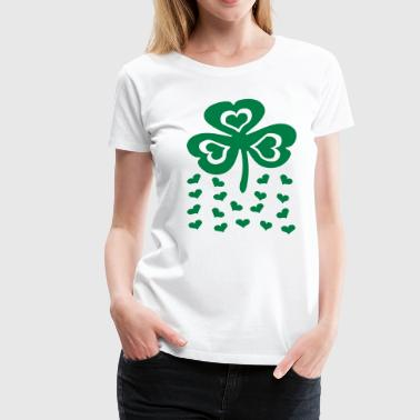 Big Shamrock And Little Hearts - Women's Premium T-Shirt