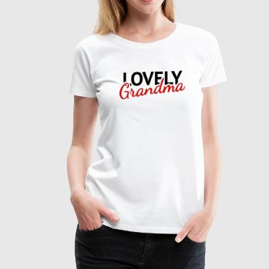 lovely grandma - Women's Premium T-Shirt