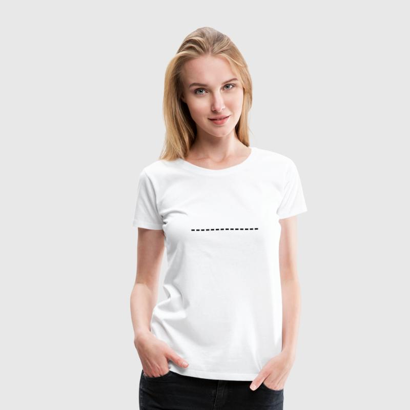 broken line,shears,cutting,line,cut,shears,marking - Women's Premium T-Shirt