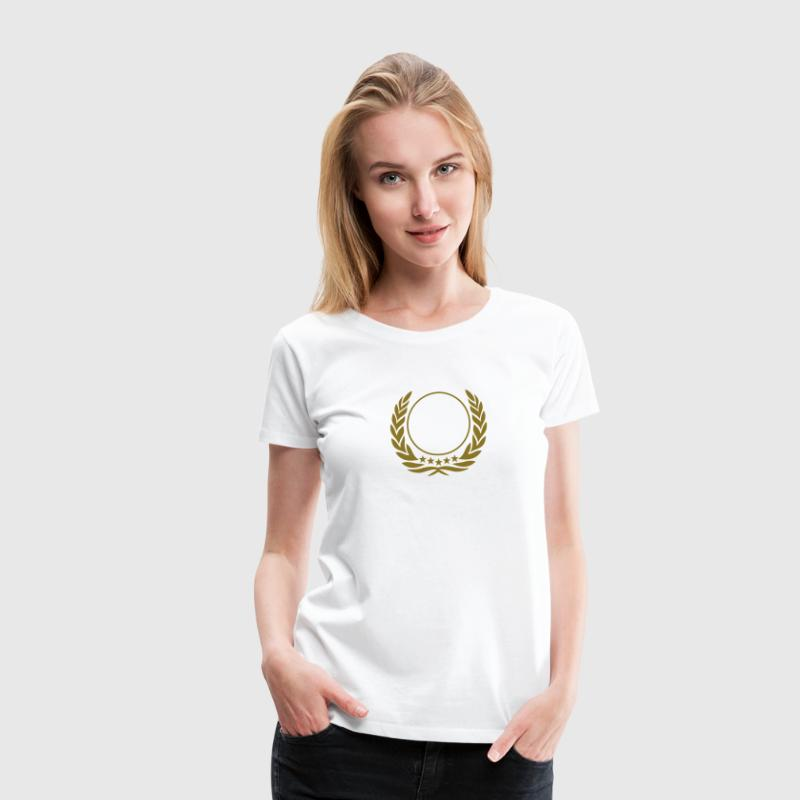 Laurel wreath, 5 stars, Award, best, hero, winner - Women's Premium T-Shirt
