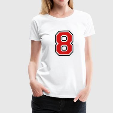 Number eight - 8 - Women's Premium T-Shirt