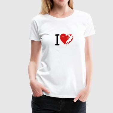 zip love heart 1 tyrolean - Women's Premium T-Shirt