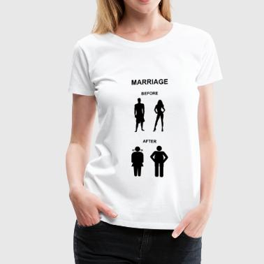 Marriage before / after, bachelor party - Women's Premium T-Shirt