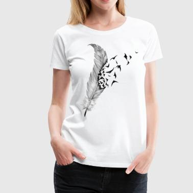 Feather And Bird - Women's Premium T-Shirt