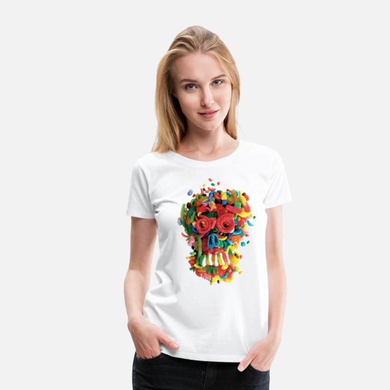 Food T-Shirts - Death and Tooth Decay - Women's Premium T-Shirt white