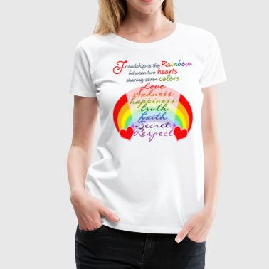 Friendship Rainbow - Women's Premium T-Shirt