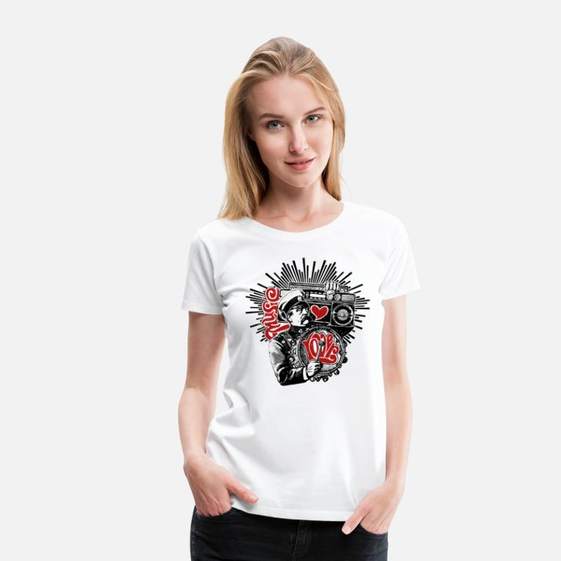 Collection T-Shirts - Music Lover - Women's Premium T-Shirt white