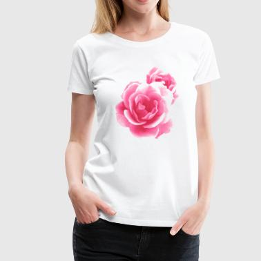 Bright Magenta Vector Rose - Women's Premium T-Shirt