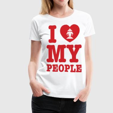 I Heart (Love) Erawan My Lao People - Women's Premium T-Shirt